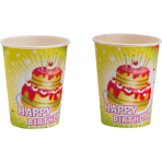 8 Cups Happy Birthday 250 ml