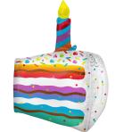 Ultrashape Cake Slice Foil Balloon P40 packaged