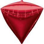 Diamondz Red Foil Balloon G20 Bulk 38 x 43 cm