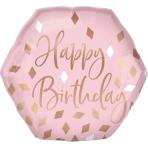 Supershape Blush Birthday Foil Balloon P30 Packaged