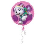 "Standard ""Paw Patrol Skye & Everest"" Foil Balloon Round, S60, packed, 43cm"