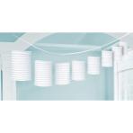 Lantern Garland Frosty White Paper 365 cm