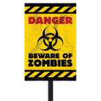 Lawn Sign Beware of Zombies Plastic 38 x 24.7 cm