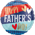 Standard Happy Father's Day Stripes and Argyle Foil Balloon S40 packaged
