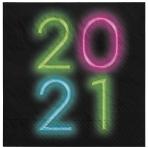 36 Napkins Neon Glow 2021 33 x33 cm