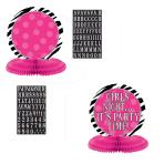 Honeycomb Centrepiece Zebra Party Personalize It