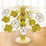 Table Centrepiece Gold Anniversaries
