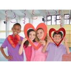 Photo Booth Kit Heart Foil 3 Pieces 47.7 cm / 33.5 cm / 23.1 cm
