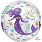 Orbz Foil Balloon Mermaid Wishes G20 packaged
