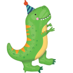 SuperShape Dino-Mite Party Foil Balloon P35 packaged 66 cm x 86 cm
