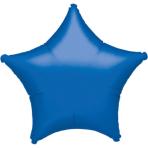 "Standard ""Metallic Blue"" Foil Balloon Star, S15, packed, 48cm"