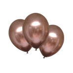 """6 Latex Balloons Satin Luxe Rose Copper 27.5cm/11"""""""
