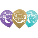 "6 Latex Balloons Mermaid Wishes 27.5 cm / 11"""