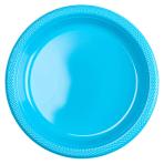 20 Plates Caribbean Plastic Round 22.8 cm