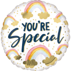 Standard You're Special Painted Rainbows Foil Balloon S40 packaged