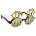 Fun Shades Dollar-Sign Plastic 13.4 x 8.2 cm