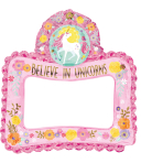 "Selfie Frame ""Magical Unicorn"" Foil Balloon G20 packed, 66 x 68 cm"