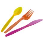 Cutlery Garden Party Plastic (6 Knives, 6 Spoons, 6 Forks) 16.5 cm / 15.2 cm / 15.4 cm