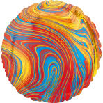 Standard Marblez Colorful Circle Foil Balloon S18 Packaged