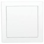 10 Mini Appetizer Plates Clear Plastic Squared 12.7 x 12.7  cm