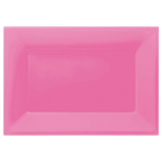 3 Platters Bright Pink Plastic Rectangular 33 x  23 cm