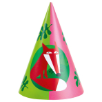8 Party Cone Hats Animals