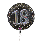 Multi Balloon Sparkling Birthday 18 Foil Balloon P75 Packaged 81 x 81 cm