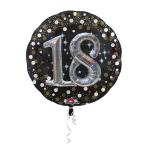 Multi Balloon Sparkling Birthday 18 Foil Balloon P75 Packaged 81 x 81 cm
