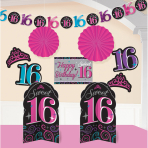 Room Decorationg Kit Sweet 16, 10 Pieces