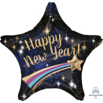 "Multi-Balloon ""HNY Shooting Star"" Foil Balloon P45 packed 71 x 71cm"