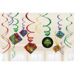 12 Swirl Decorations Rise Of The Teenage Mutant Ninja Turtle Foil / Paper 61 cm