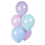 "10 Latex Balloons Macaron assorted 27.5 cm / 11"""