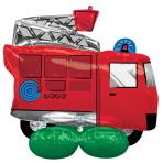 AirLoonz Fire Truck Foil Balloon P71 Packaged 106 cm x 88 cm