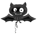 SuperShape Black Bat Foil Balloon P35 Packaged