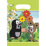 8 Party Bags Little Mole Plastic 23.4 x 16.2 cm