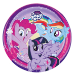 8 Plates My Little Pony - 2017 Paper Round 22.8 cm