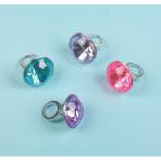 8 Jewel Rings Plastic