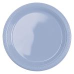 10 Plates Plastic Pastel Blue 17.7cm
