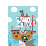 Tablecover Ahoy Birthday Plastic 137 x 243 cm