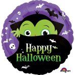 """Standard """"Halloween Dracula"""" Foil Balloon Round, S40, packed, 43cm"""