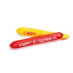 "2 Latex Balloons Happy Birthday 120 cm / 48"""
