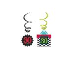 12 Swirl Decorations Chevron Birthday 30