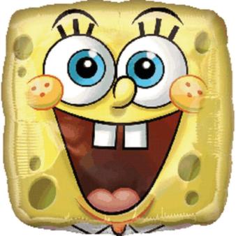 Standard SpongeBob Square FaceFoil Balloon S60 Bulk