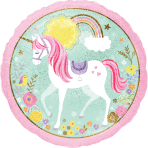 """Standard """"Magical Unicorn"""" Foil Balloon Round Holographic, S55, packed, 43cm"""