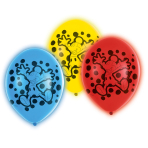 """5 Latex Balloons LED Mickey Mouse 27.5 / 11"""""""
