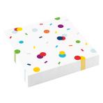 20 Napkins Confetti Birthday 33 x 33 cm