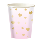 8 Cups 1st Birthday Pink Ombre Paper 250 ml