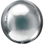 Orbz Silver Foil Balloon G20 Bulk 38 x 40 cm