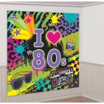 2 Scene Setter Add-Ons Totally 80's Plastic 165 x 82.5 cm