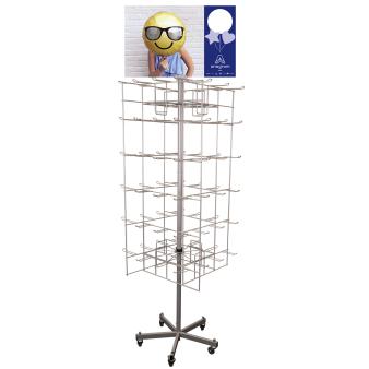 72-Peg Floor Spinner Grey 66 x 66 x 183 cm